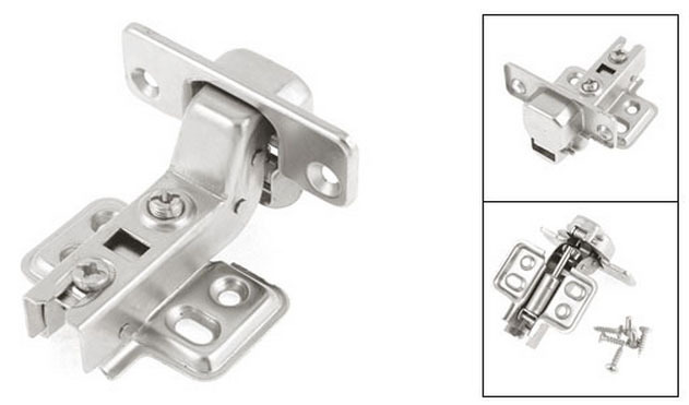Silver Tone Metal Hydraulic Full Overlay Cabinet Hinges 100mm Long 2PCS(China (Mainland))