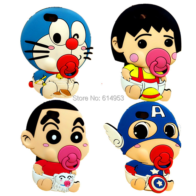 For iphone 5 5G 5S Case Cape 3D Doraemon Crayon Shin Chan ...