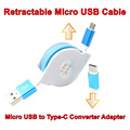1M 1 8A Charging Cord Flat Retractable Micro USB Data Sync Charger Cable Micro USB to
