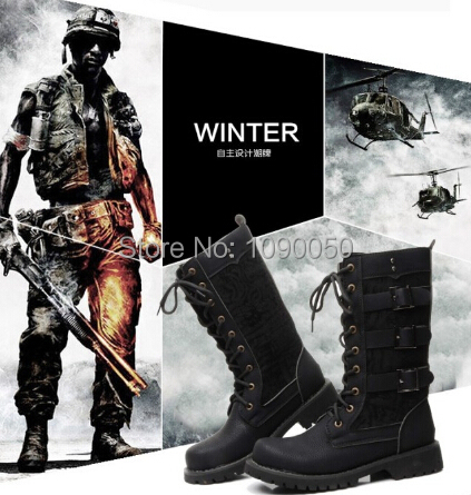 Eur:37-44 45 Winter/Autumn 2014 fashion black brand Martin mens boots Round toe outdoor mens Cosplay Stage performance shoes<br><br>Aliexpress