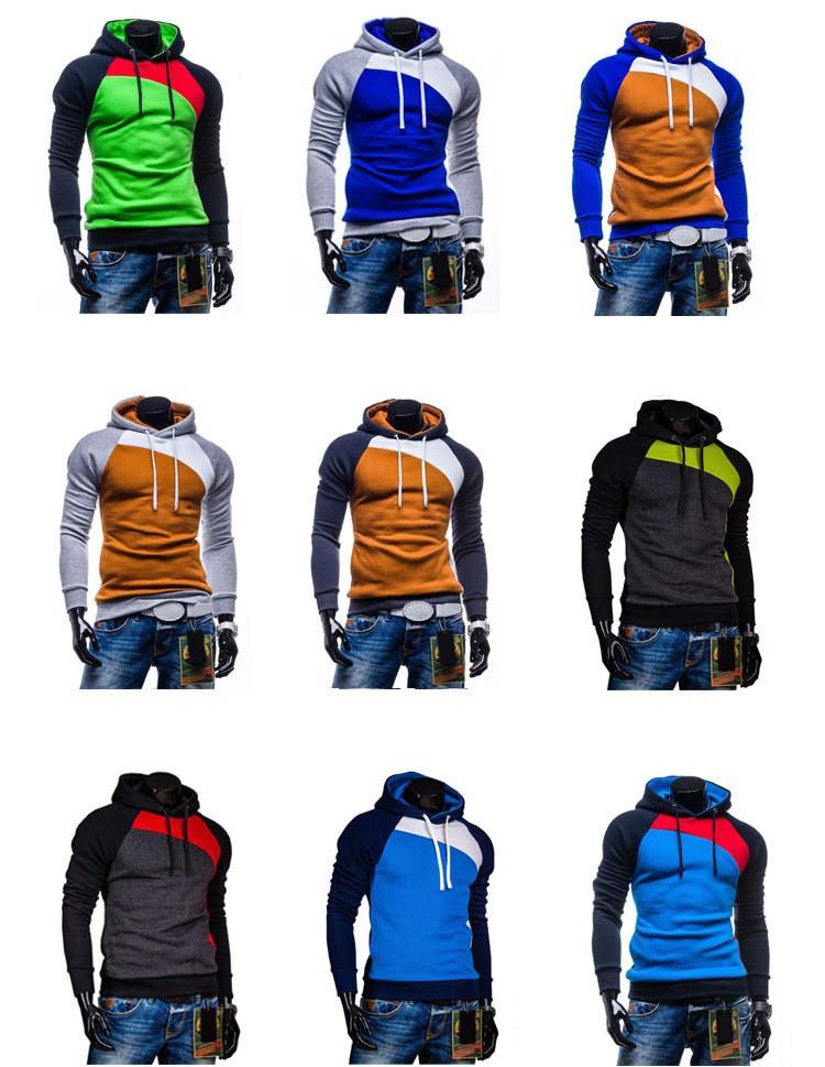 2-2015 New Arrival Hoodies Men Solid Color Fashion chandal hombre sudaderas sweatshirt men