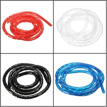 New Arrvial!!! 1/2/5/10M Spiral Wire Wrap Tube Manage Cord for PC Computer Home Cable 4-50MM Excellent Quality