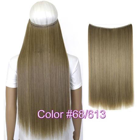 """Верхние термостойкие B5 синтетические волосы 20 """"50 см 50 г эластичность невидимая 68-613"""