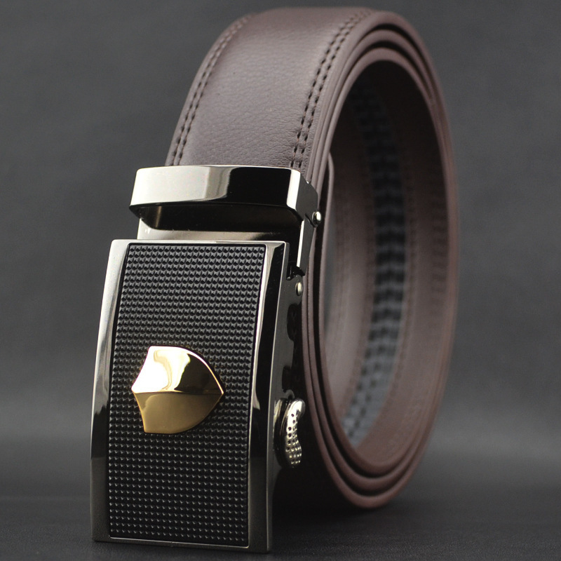 2015 New Men's Belts Leather Belt Men Casual Male fashion genuine leather belt automatic buckle business waist strap classic - Crystal Top Fashion store