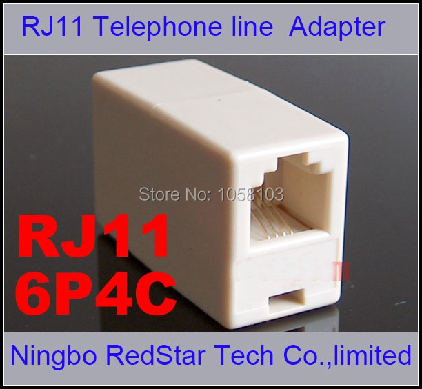 [RedStar]200PCS/LOT RJ11 Telephone cable extention connector Female to Female extension Adapter RJ11 through head(China (Mainland))