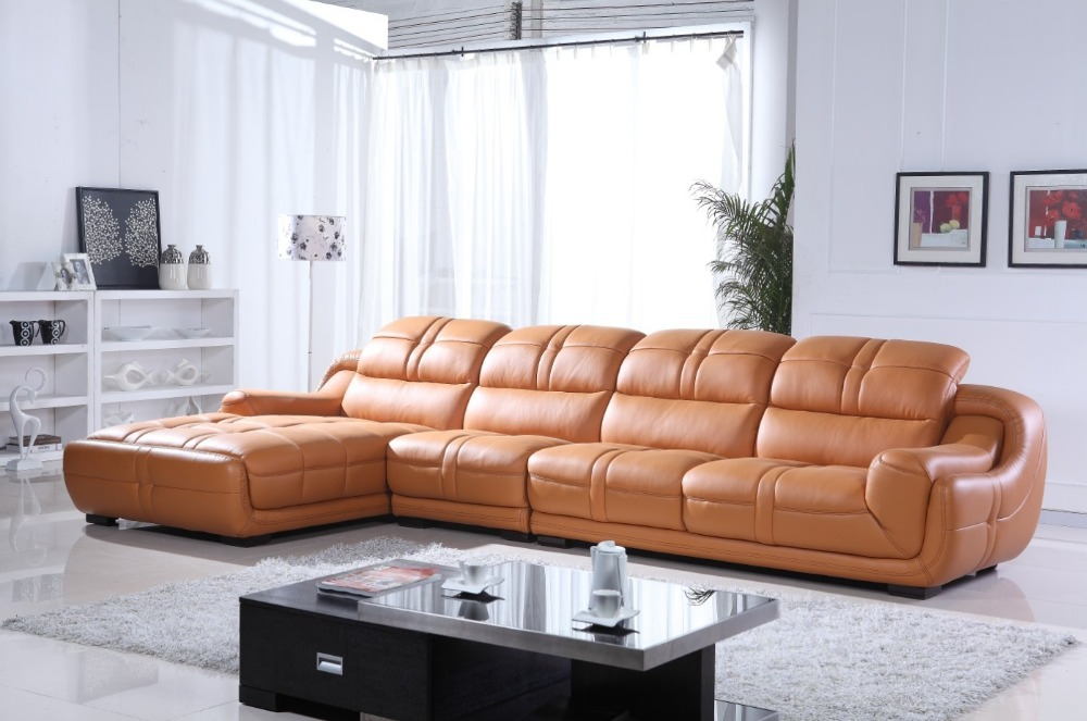 2015 Latest Modern Design Leather Sofa 669 In Living Room Sofas From Furniture On