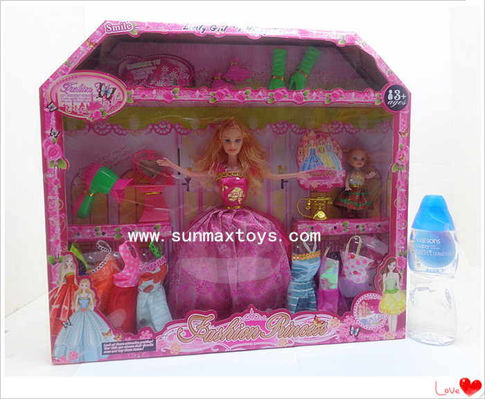 29CM Tall Fashion Barbie Girl Set Dolls Barbie Princess Dolls Toy For Girl Fashion Clothes Various Accessories(China (Mainland))