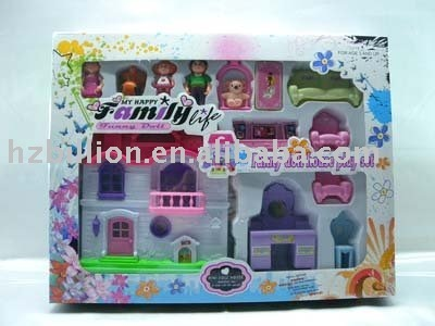 beautiful house toy dream house set castle toy,free shipping,YX0120782,12pcs/carton china(mainland),
