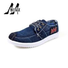 Fashion Men's Canvas Shoes Flats Blue Lace-Up Rubber Sole 2016 New Spring Autumn Adult Casual Shoes Size 39-44 J4369
