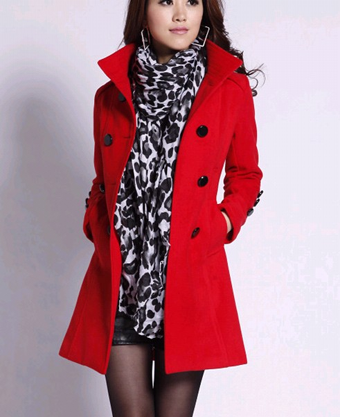 2012 fashion stand collar double breasted slim elegant woolen outerwear female wool coat belt - city of angel shop store