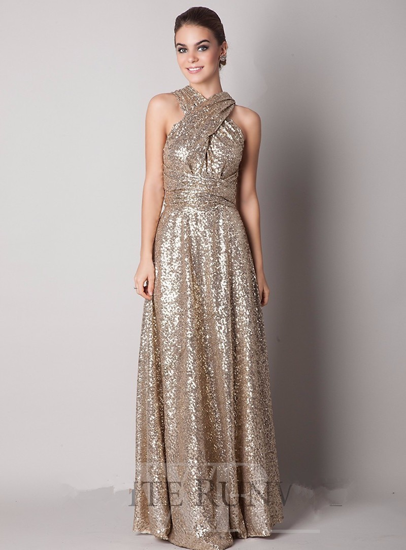 aliexpresscom buy rose gold champagne sequin bridesmaid