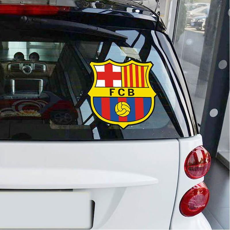 Hot Car styling Car Stickers Euro-Premium fc Barcelona Logo for Cars Acessories Decoration,Car Cover S-064(China (Mainland))