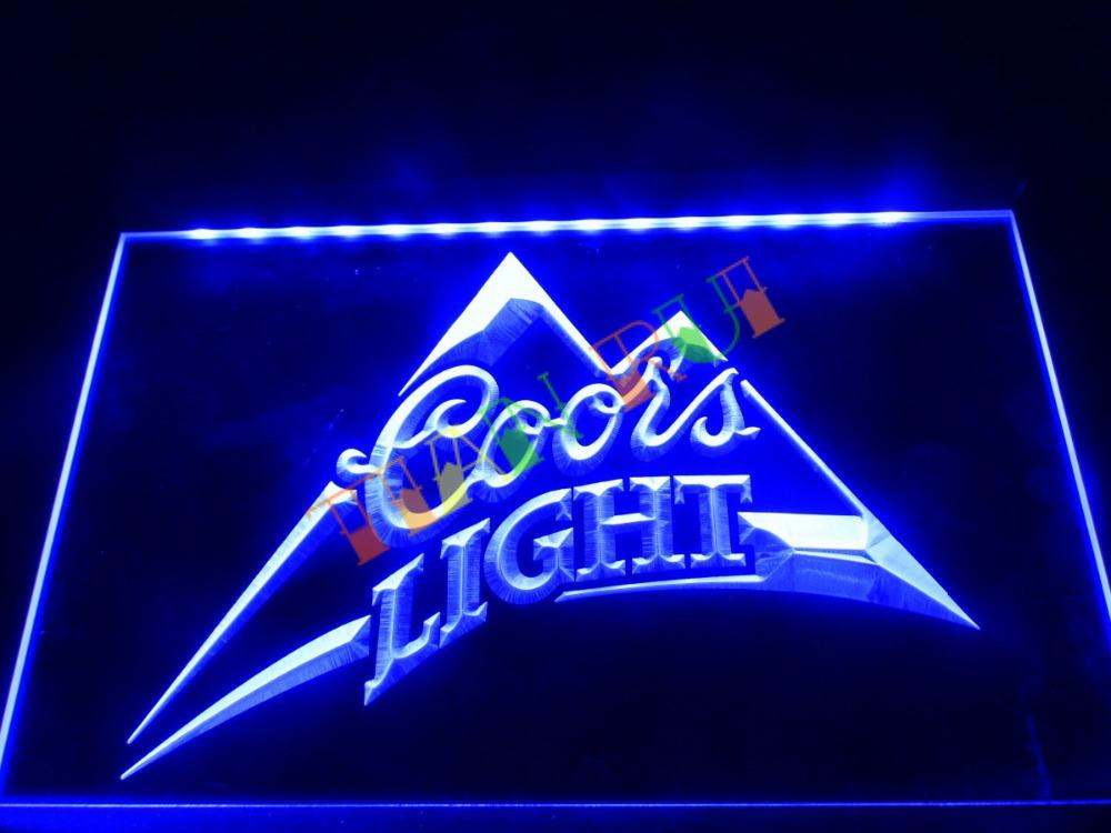 LA004- Coors Light Beer Bar Pub Logo LED Neon Light Sign home decor crafts(China (Mainland))