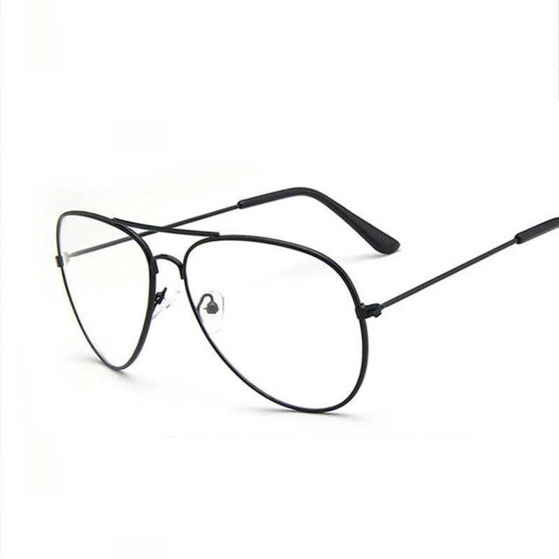 men gold frame clear lens glasses