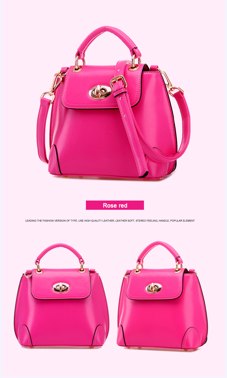 Ladylike Handbag 2016 New Fashion Bucket Bag Flap Twist Lock Small Bag Ladies Designer Luxury Shoulder Bag Small  Hand Bag
