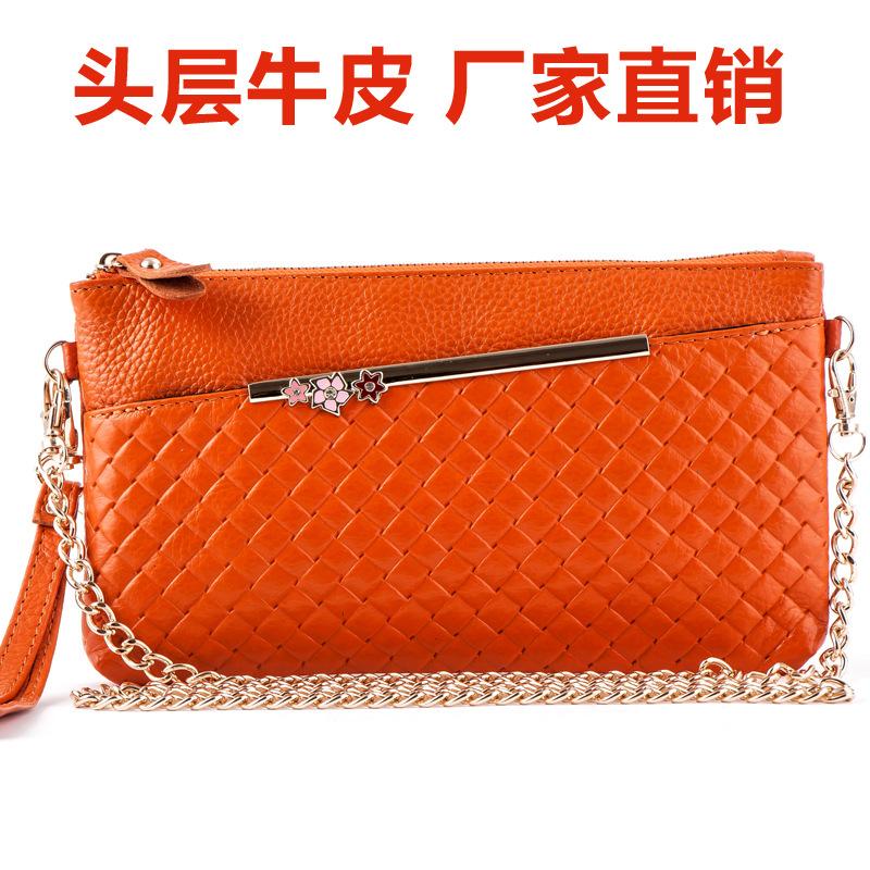 Bolsa Feminina De Couro Genuino : Saco de embreagem couro das mulheres bolsas femininas