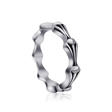 New Come 316L Titanium Stainless Steel Rings For Women Vintage Bone Punk Gothic Mid Finger Rings US Size aneis mulheres