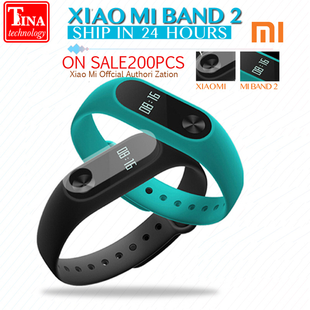 2016 IN STOCK!! New Original Xiaomi Mi Band 2 Miband Wistband Bracelet with Smart Heart Rate Fitness Touchpad OLED Screen