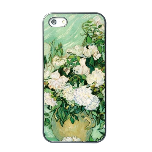 for iPhone 5s TPU Cases Vincent Van Gogh Roses Oil Painting Soft TPU Case for iPhone 5s 5(China (Mainland))