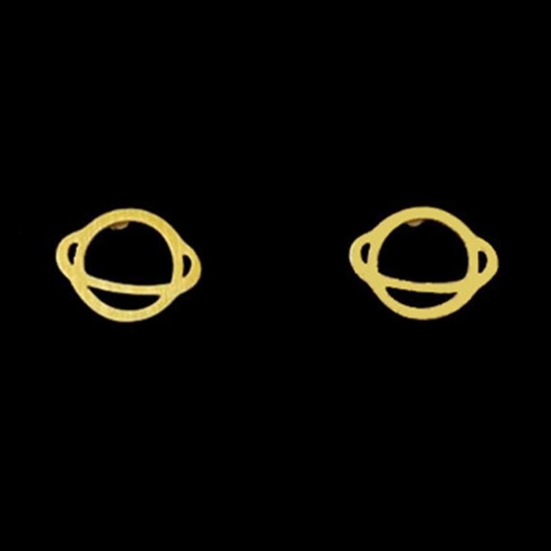 E280 Saturn Earring 2016 Women Jewelry Silver Gold UFO Planet Saturn Stud Earrings for Women Men Brincos(China (Mainland))