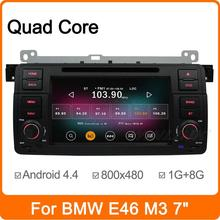 Pure Android 4.4.2  quad core Car DVD Player Capacitive screen car GPS radio for BMW E46,M3 with WIFI 3G BT USB SD car stereo