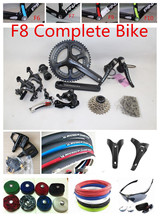 F8 Complete Bike With Groupset 6800 2015/2016 New Color F8 Complete Bicycle Team Sky Blue (China (Mainland))
