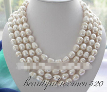 "Buy LL<<< 1278 long 80"" 11-12mm white rice freshwater pearl necklace for $45.81 in AliExpress store"