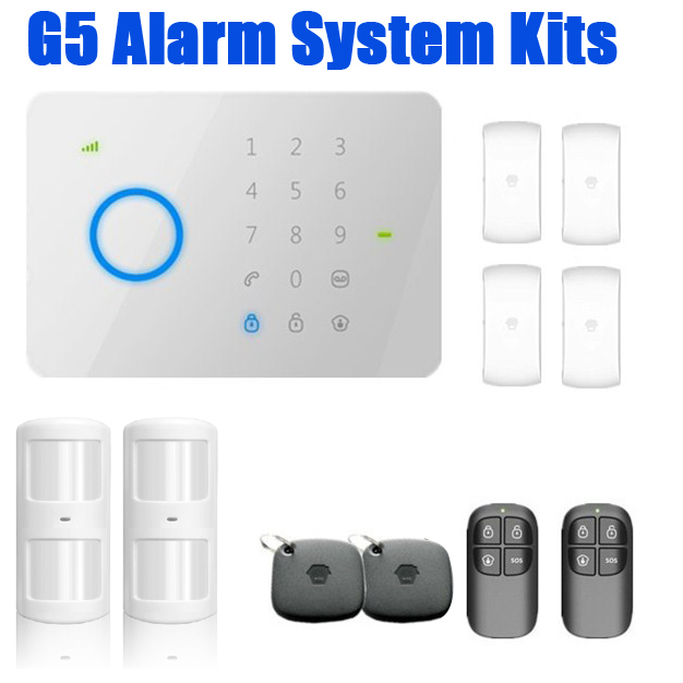 DIYKIT 182kits universal 315Mhz CHUANGO G5 GSM SMS Home Burglar Security Alarm System with RFID Tag ,access control smoke sensor