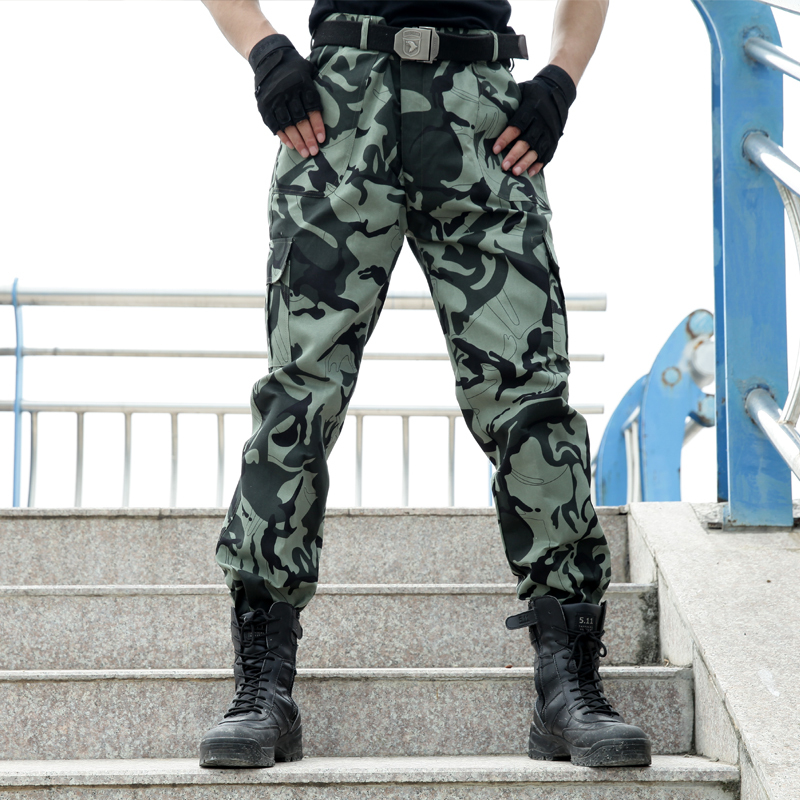 Outdoors Tactical Military Men's Pants Work Cargo Pants Combat Uniform Army Military Work Cotton Mens Camouflage Pants(China (Mainland))
