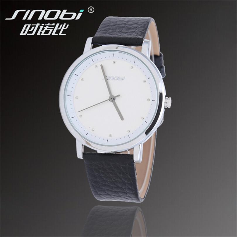 SINOBI Brand Male Relogio Masculino Fashion Simple Business Casual Waterproof Orologio New Men Sport Leather Analog Quartz Watch - Mradio store