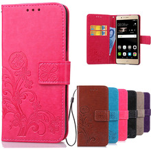 Cover Huawei P9 Lite Flip Case Luxury Retro PU Leather & Soft Silicone Wallet Flip Cover Case For Huawei P9 Lite / P9 Plus(China (Mainland))