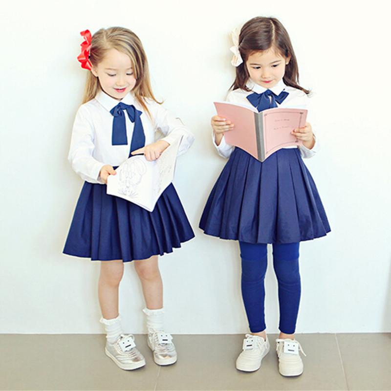 2016 spring Dresses Baby Girls Vintage Black School Uniform Age 2~8 Supernova Sale Kids Dresses Children Clothes 100% Cotton(China (Mainland))