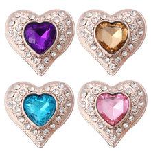 5 sztuk/partia nowy duży anioł dziewczyna Snap biżuteria różowe złoto srebro piękny motyl 18mm przystawki przycisk Fit DIY Snap bransoletka dla kobiet(China)