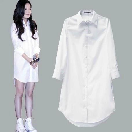 White Long Sleeve Blouse Womens