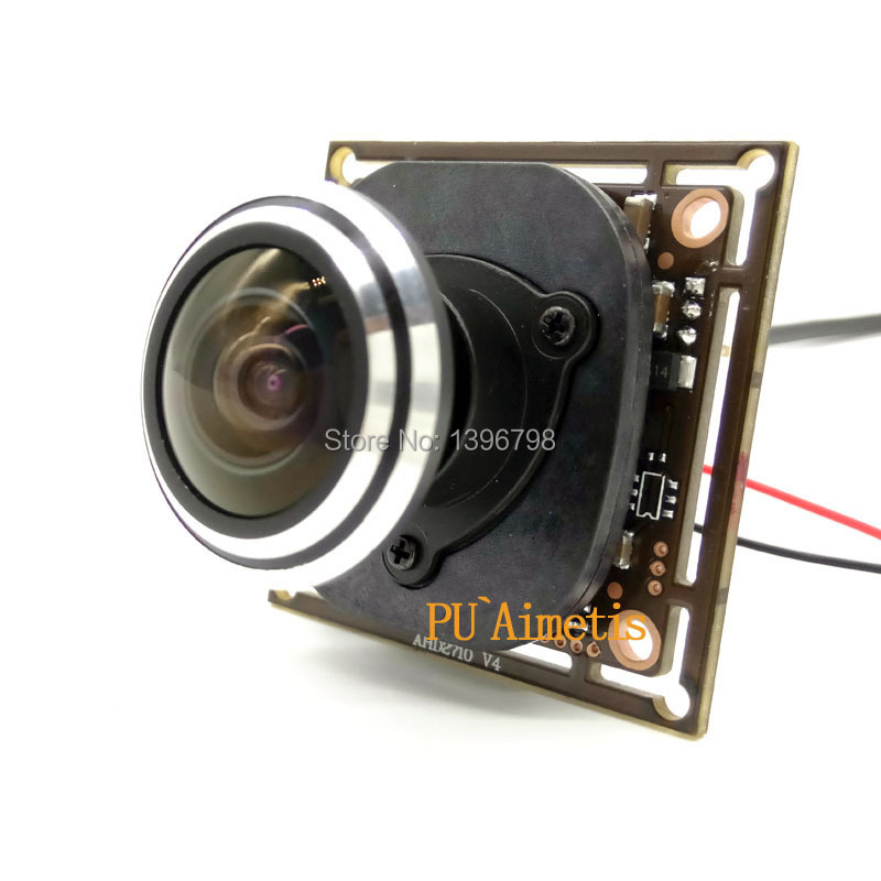 1 / 2.7 1920 * 1080 AHD Mini Camera Module 2MP 1080P 360 Degree Wide Angle Fisheye Panoramic Camera Infrared Surveillance Camera