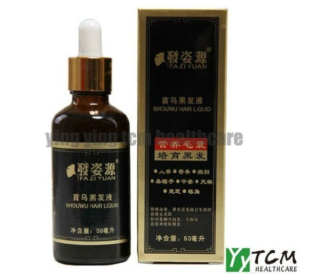 FAZIYUAN black hair liqiud Polygonum multiflorum nourishing hair anti-gray 50ml