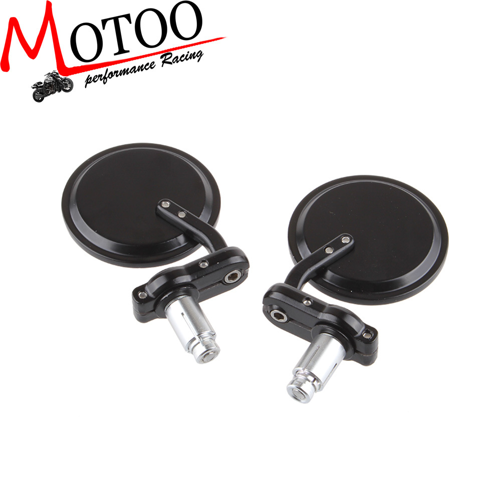Motoo - MOTORCYCLE BIKE 3 inch ROUND 7/8 HANDLE BAR END MIRRORS REARVIEW SIDE MIRROR motorcycle parts co., LTD store