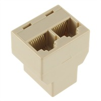 1Pcs RJ45 for CAT5 Ethernet Cable LAN Port 1 to 2 Socket Splitter Connector Adapter DropShipping