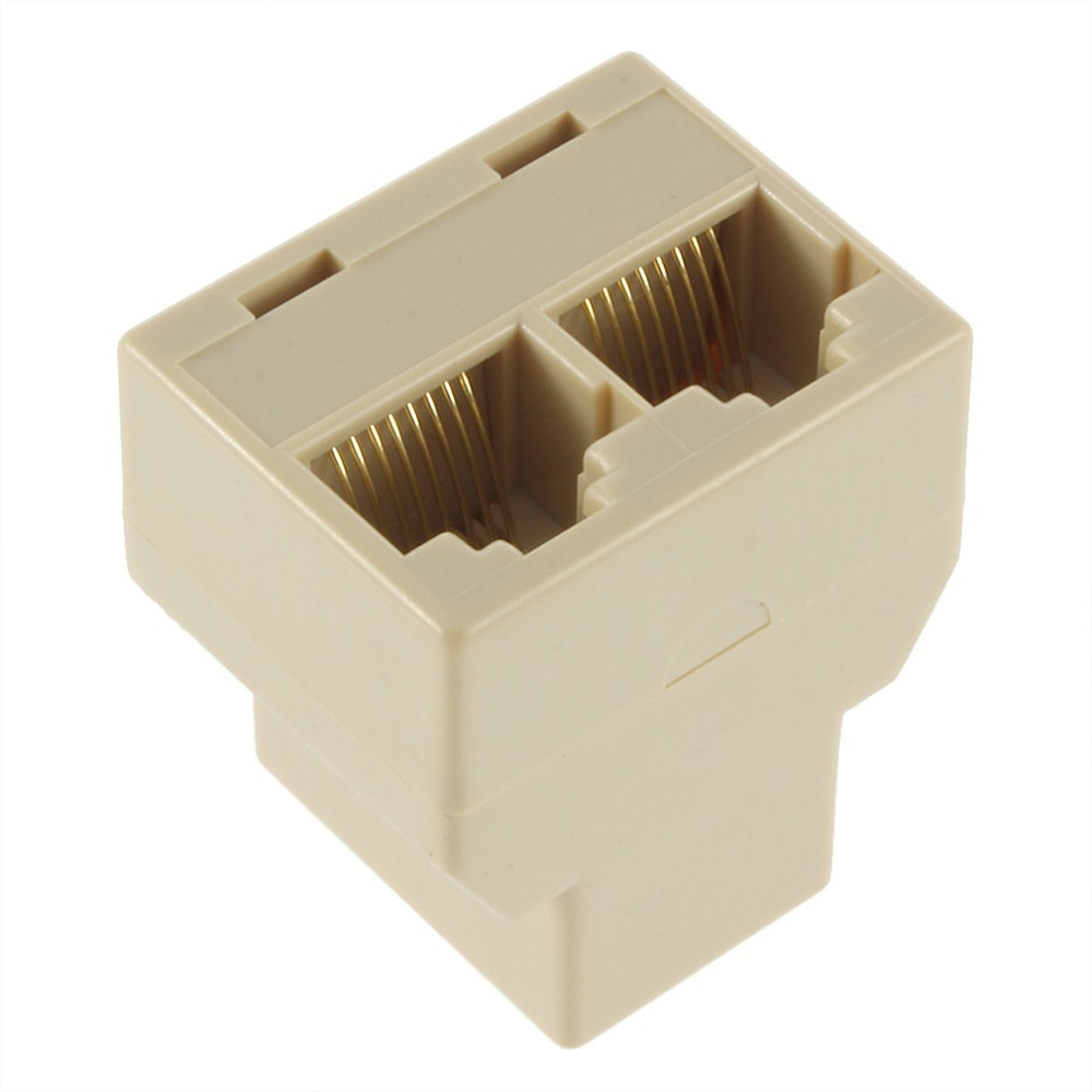 1Pcs RJ45 for CAT5 Ethernet Cable LAN Port 1 to 2 Socket Splitter Connector Adapter DropShipping(China (Mainland))