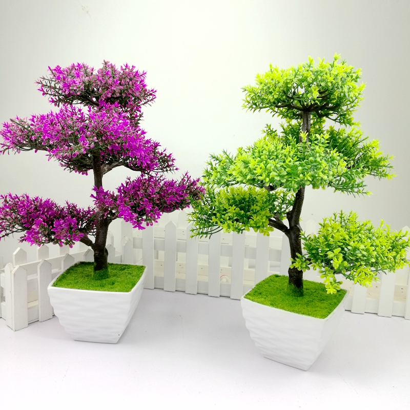 Buy Welcoming Pine Bonsai Plant Simulation Green Plants Potted Artificial Flowers Living Room