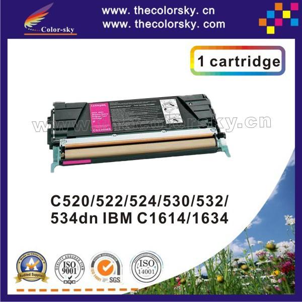(CS-LC520) toner laserjet printer laser cartridge for Lexmark C520 C522 C524 C530 C534dn IBM C1614 C1634 00C5220KS 00C5220CS<br><br>Aliexpress