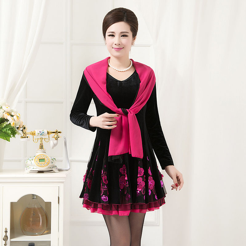 Free Shipping Promotion 2015 New Autumn Middle Aged Mother