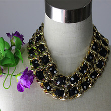 Ms popular jewelry wholesale girls birthday party gift 18 k white gold black silk sand point double necklace with free shipping!(China (Mainland))