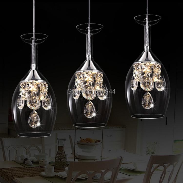 2015 New Glass Pendant Lights Hanging Pendentes Modern Crystal LED Pendant Lamp Lustres De Cristal Pendant Light Fixture<br><br>Aliexpress