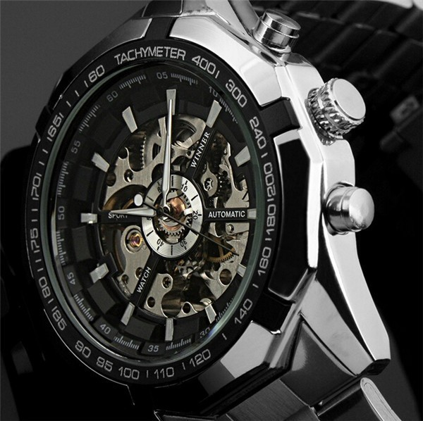 New Winner Luminous Clock Men Automatic Watch Skeleton Military Watch Mechanical Relogio Male Montre Dieseler Watch Mens Relojes(China (Mainland))