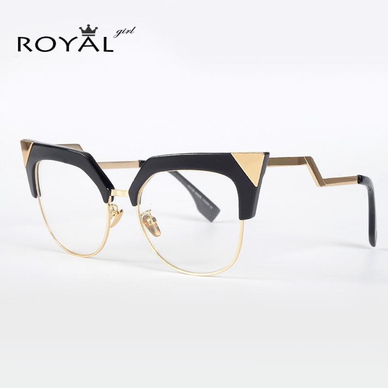 ROYAL GIRL New Cat Eye Eyeglasses Frames Retro Optical ...