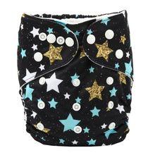 [Sigzagor] pañal de tela de bolsillo para bebé pañal reutilizable lavable Navidad piña 8lbs-36lbs 3 kg-15 kg(China)