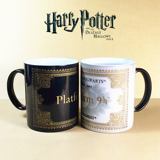 Harry Potter Mugs Color Changing Footprint Cup Mischief Managed Magic Coffee mug Cups for friend gift(China (Mainland))