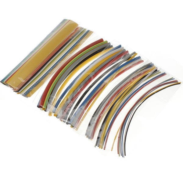 Best Promotion 8Colors Assortment 64pcs Polyolefin 2:1 Heat Shrink Tubing Tube Sleeving Wrap Wire Cable Assortment Hot Sale(China (Mainland))