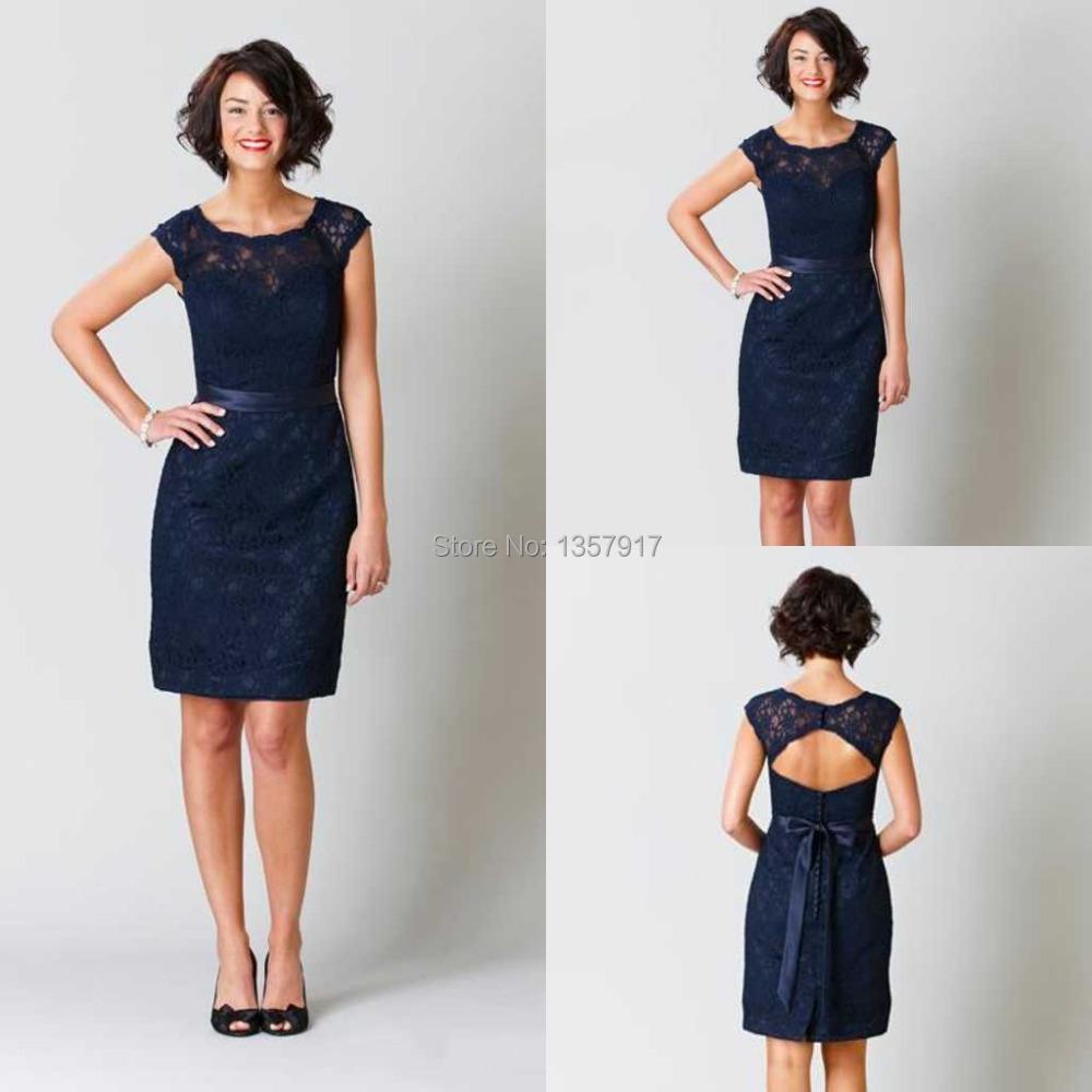 Online Get Cheap Knee Length Navy Blue Dress -Aliexpress.com ...